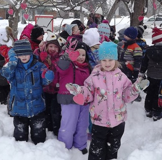 Hudson Preschool students have a heart for Friendship Day