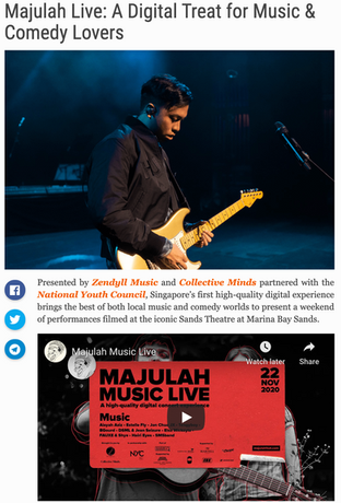 Majulah Live: A Digital Treat for Music & Comedy Lovers