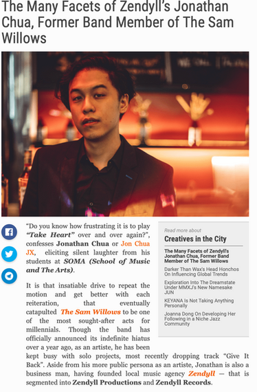 The Many Facets of Zendyll's Jonathan Chua, Former Band Member of The Sam Willows