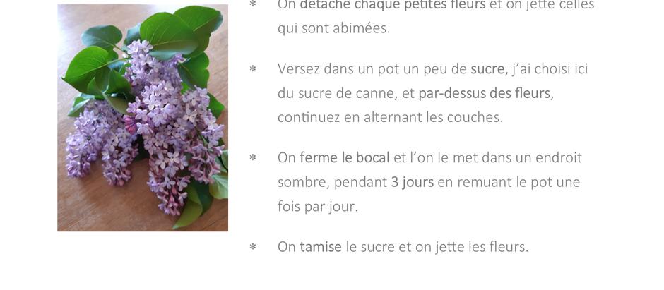 Sucre parfumé au lilas