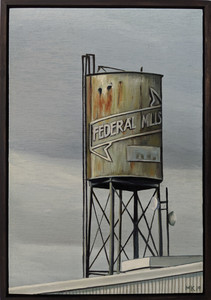 Water tower at Federal Mills