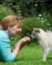 with Teddy in garden.jpg