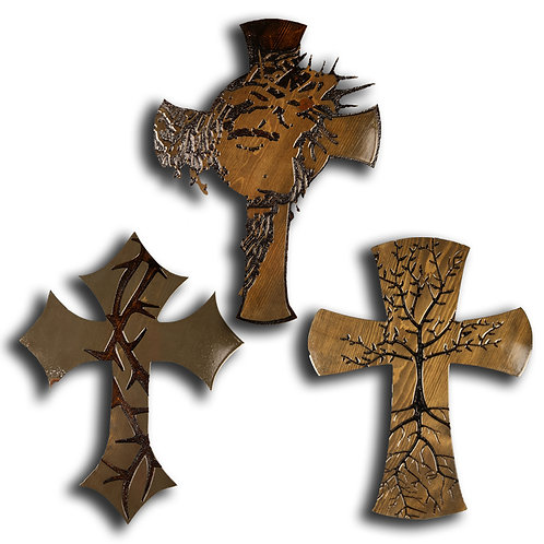 Assorted Large Crosses with Intricate Designs