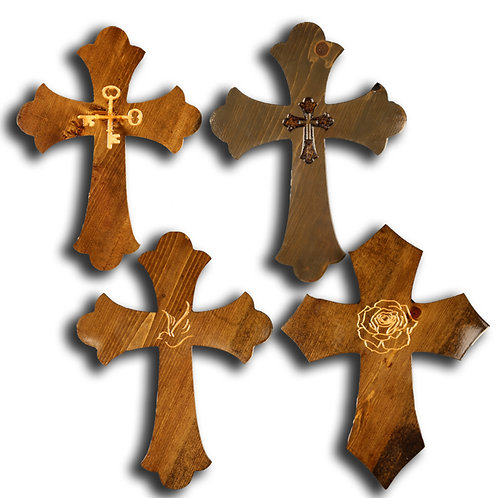 Assorted Large Crosses with Objects