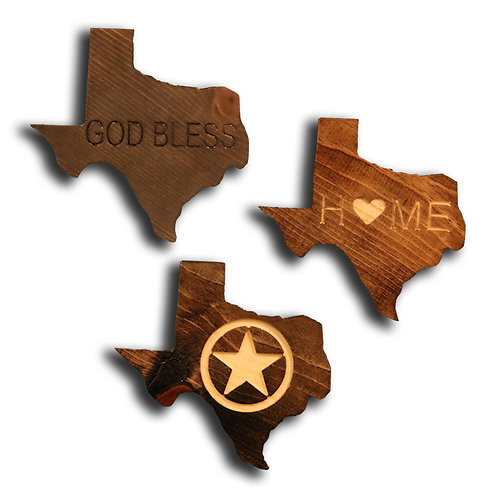 Assorted Mini Texas Plaques