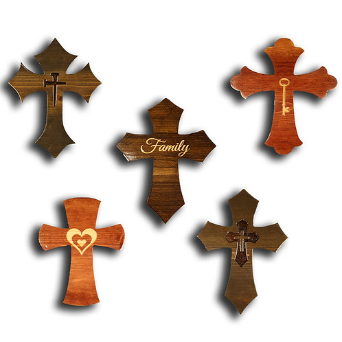 Assorted Small Crosses with Objects