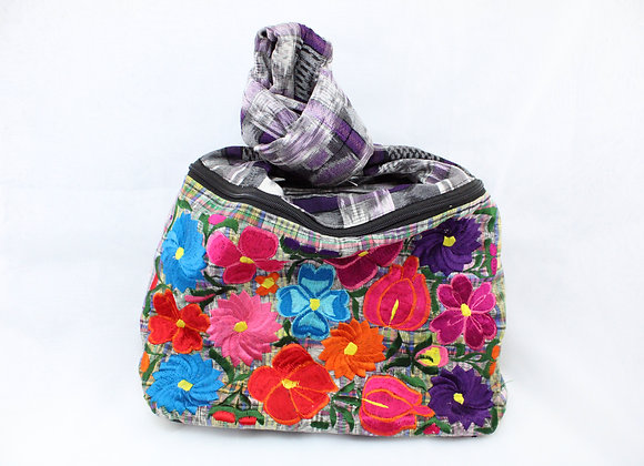 Cross Body Multicolor Flowers Ethnic Bag