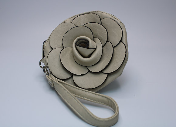 Cream Rose Design Handbag