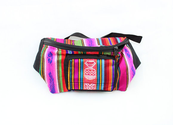 Woven Pink/Blue Fanny Pack