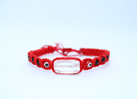 Clear Quartz Red String Bracelet