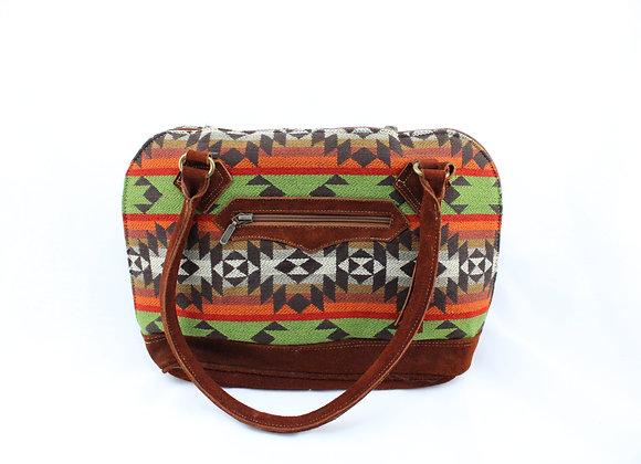 Aztec Handbag (Orange/Red/Green)