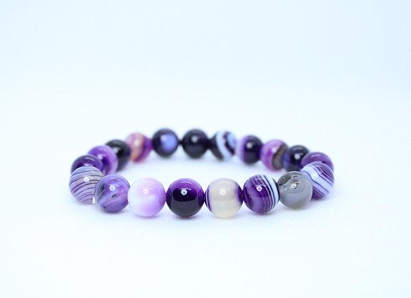 Marble Amethyst Purple Bracelet