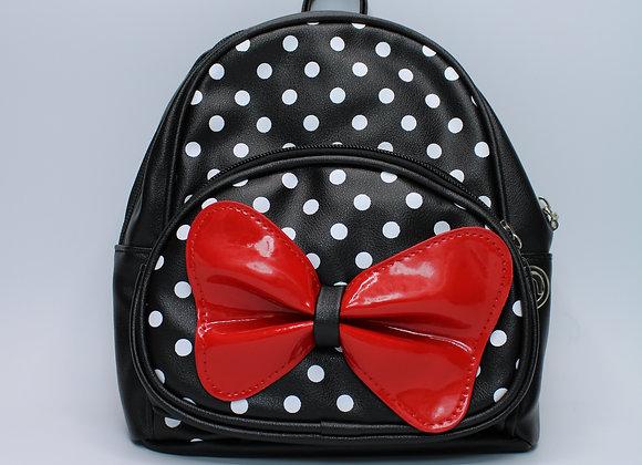 X-Small Black Polka-Dot w/ Red Bow
