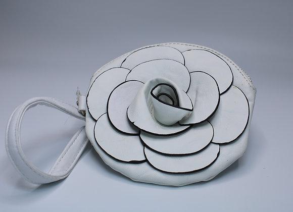 White Rose Design Handbag