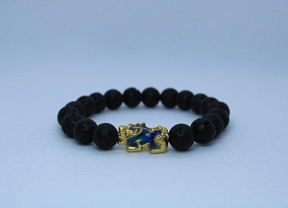 Feng shui Pixui Black Lava Rock Bracelet