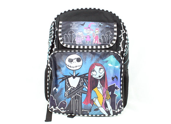 Nightmare Before Christmas Backpack with Black and White Stripes
