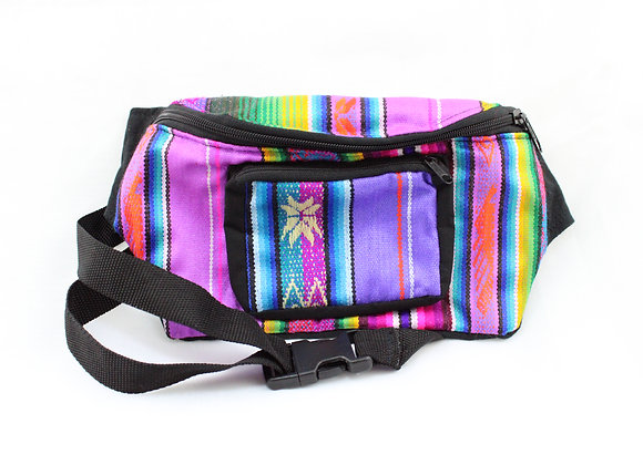 Woven Purple/Orange Fanny Pack