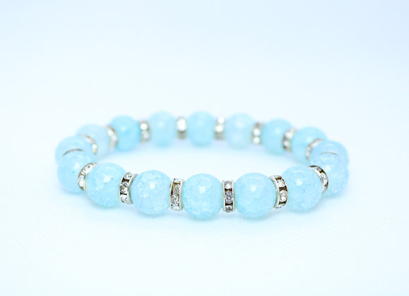 Light Blue/Silver Rhinestone Bracelet