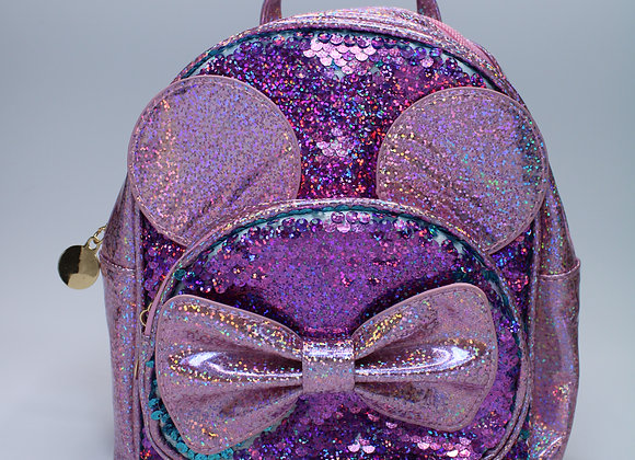 Pink and Purple Sequin Small Backpack