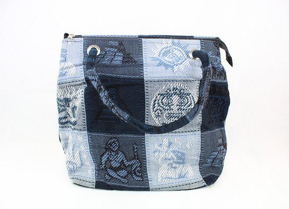 Cultural Indigo Handbag