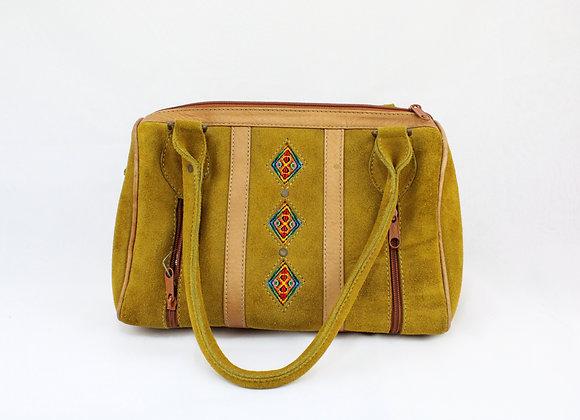 Mustard color Cultural Handbag