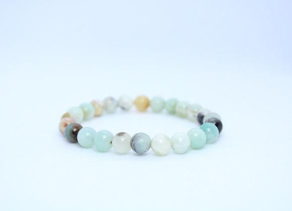 Turquoise/Tan Marble Healing Bracelet