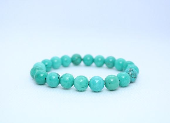 Turquoise Round Bead Healing Bracelet