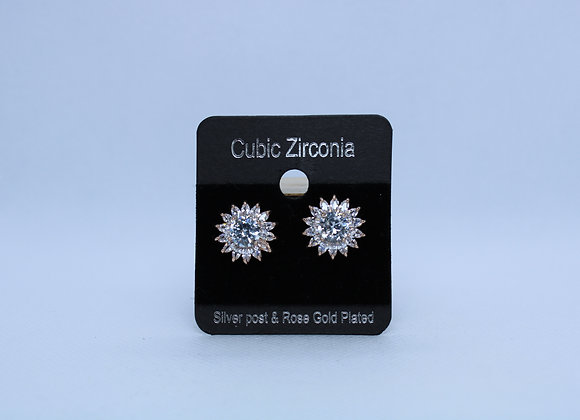Rose Gold Cubic Zirconia Earrings