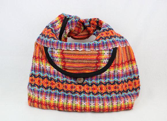 Crossbody Ethnic Shoulder Bag (Bright Orange Multi-Color)