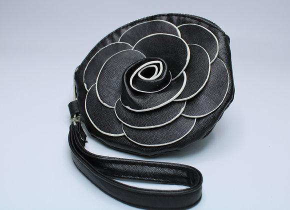 Black Rose Design Handbag