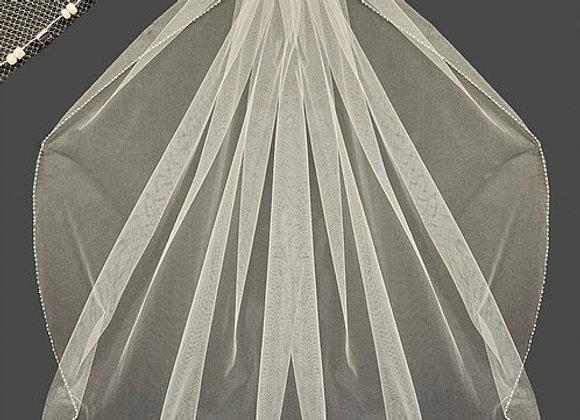 "WHITE VEIL 36""ONE LAYER V 56-1658-2"