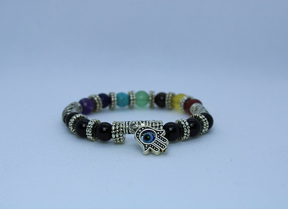 Third Eye Multi-Color Metallic Bracelet