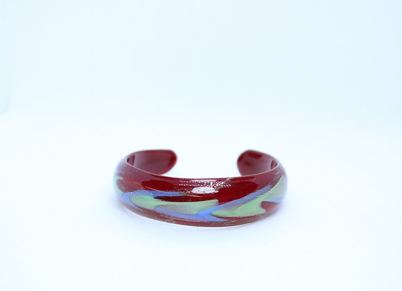 Small Multicolor Acrylic Bangle Bracelet