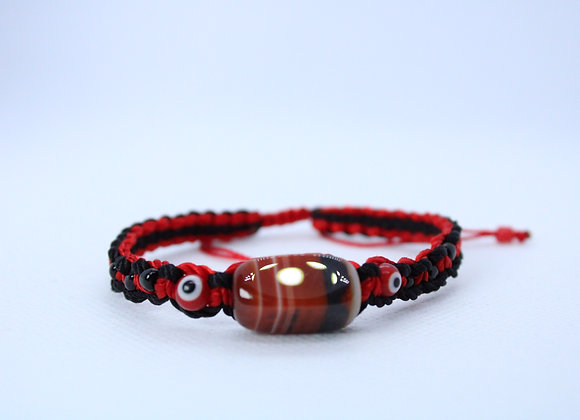 Multi-Color Healing Stone Red String Bracelet