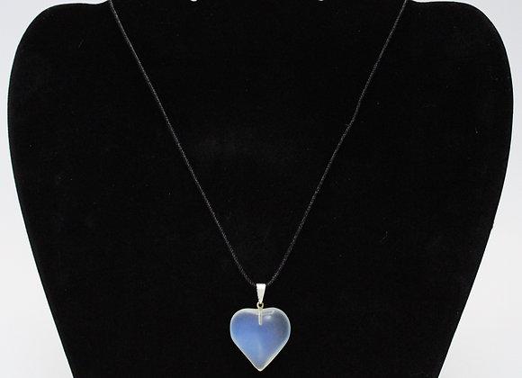 Opal Heart Healing Stone Necklace