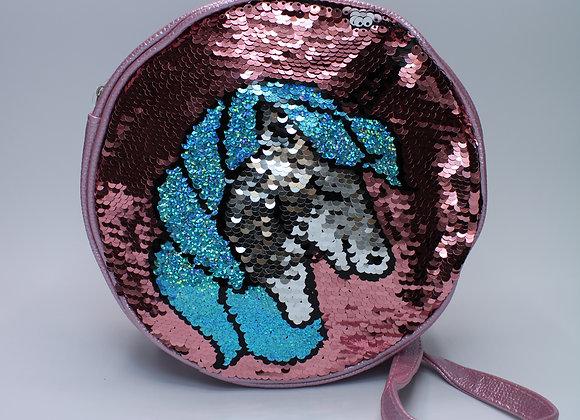 Metallic Purple Small Sequin Unicorn Bag