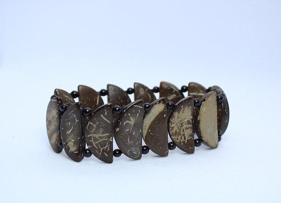 Brown Bracelet w/ Black Beads