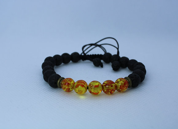 Fire Bead Lava Rock Bracelet