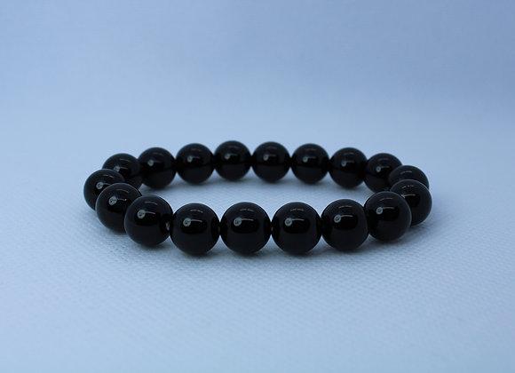 Black Metallic Beads