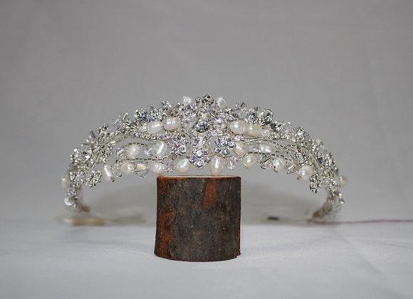 Swarovski Crystal Tiara with Pearls