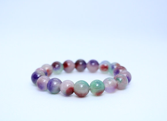 Purple Multi-Color Healing Bracelet