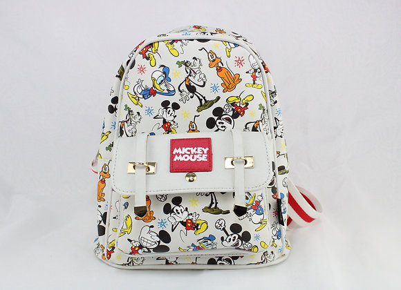 White and Red Mickey Mouse Backpack