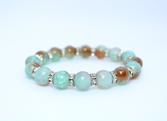 Light Blue and Amber Bracelet