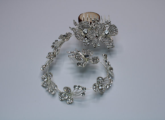 Silver Rhinestone hair accessory