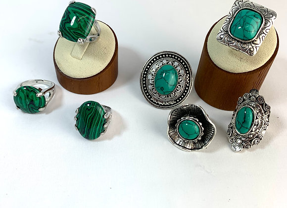 Assorted Green Rings