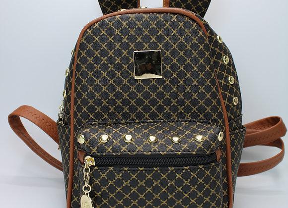 Dark Brown w/Brown Strap Mini Bunny Backpack