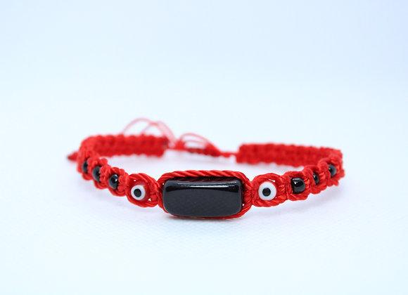 Black Obsidian Red String Bracelet