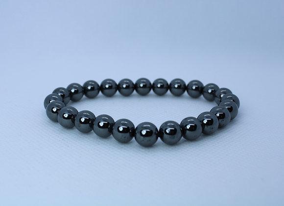 Round Silver Metallic Bead Bracelet