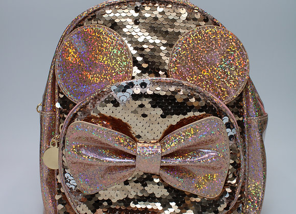 Rose Gold Sequin Sequin Small Backpack