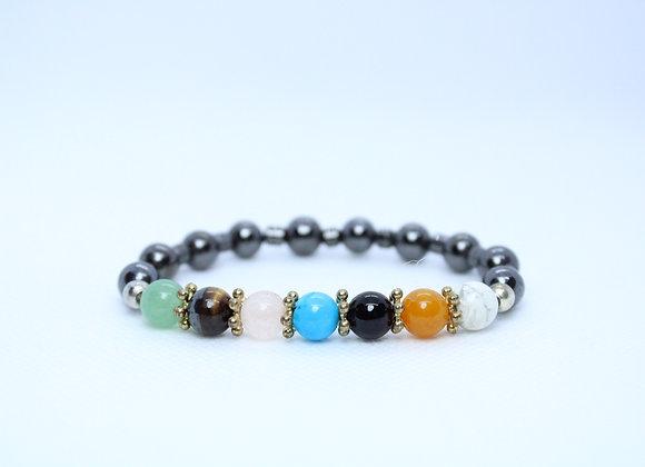 Multi-Color Healing Stone Bracelet